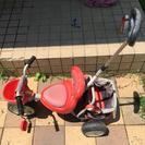 子供三輪車補助棒有り