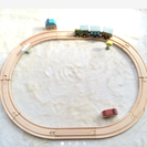 木のレール 汽車セット