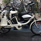ブリヂストン電動自転車 ビッケ2e リアチャイルドシ-ト付 ホワイト