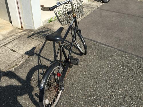 無印良品☆自転車 20型 3段ギア 黒色 カゴと鍵付き −