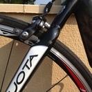 2009 Kuota Kharma カーボンロードバイク 輪行バッグ、サドル、ペダルなどおまけ − 滋賀県