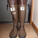 日本野鳥の会オリジナル長靴 中古 ブラウン 24センチ