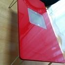 ローテーブル(折れ脚)赤色・あげます