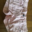 薄いピンク半ズボン
