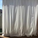 無印良品 カーテン 白 帆布の画像