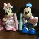 【値下げ⤵︎】ミッキー&ミニー 電報 ぬいぐるみ