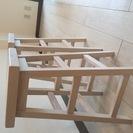 木製のダイニング・ハイチェア※2脚セット