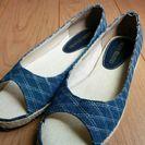 ◆商談中◆デニム ぺったんこ靴 新品