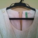フォーマルワンピース②白レース - 服/ファッション