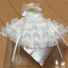 ★美品!結婚式リングピロー フラワーモチーフ付!