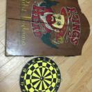 ダーツボード kings head 英国調 木製キャビネット