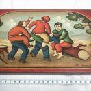 イタリア製 絵画 木製 ハンドペイント
