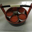 素麺セット  桶、銘々皿5客