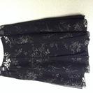 カールパークレーン スカート 透け感のあるブラック 花柄 美品