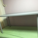 作業用机にどうぞ IKEA LINNMON シルバー