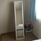 鏡:姿見150cm  (白)→値下げ