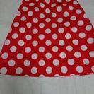 ハンドメイド♡ミニーちゃん風スカート