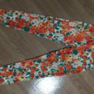 レギパン オレンジの花柄