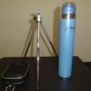 カメラケース、カメラスタンド、水筒スリムステンレスボトル 500...