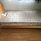 【美品】シングルベッド マットレス付