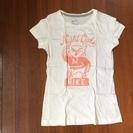 NIKE  SLIM FIT  みみずく白Tシャツ レディースSサイズ
