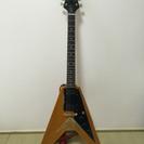 ギター フライングV  木目