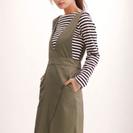nanouniverse 2WAYIラインスカート(カーキ
