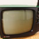 レトロかわいいテレビ!HITACHI製 カラーはグリーン。チャン...
