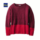 GU メランジセーターカラーブロック