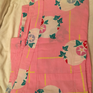 浴衣  ピンク  朝顔