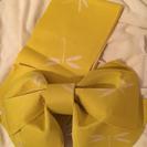 浴衣の作り帯  黄色  トンボ