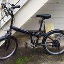 折りたたみ自転車(中古)6段変速ギア