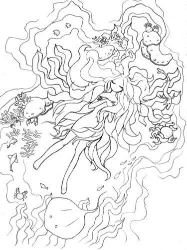 おとなも子どももぬり絵教室10月2日日横浜 オババ 高島町のイラスト
