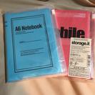値下げ★新品★A6ノート マークス ビニールポーチカバー付き