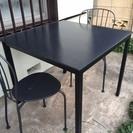 オシャレ! ガーデンテーブルセット(椅子2脚付き)