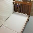★すぐに使える、MUJI シングルサイズベッド(スノコベッドフレーム、ヘッドボード、スプリングマットレス) - 大阪市