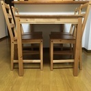 【IKEA】4人掛けダイニングデーブルセット