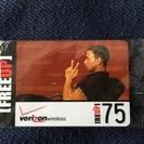 verizon リチャージカード$75 (REUP-75)+$3...