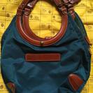 【値下げしました】Felisiナイロンレザーサークルハンドルバッグ