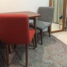 北欧家具*unico*ダイニングテーブル&チェア2脚セット