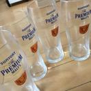 プレミアムモルツのグラス、4つで100円。コップ、ビールジョッキ。