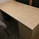 【あげます】IKEA 机&引き出しセット[LINNMON / AL...