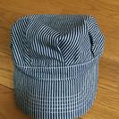 帽子(紺と白のシマシマ)