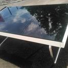 ニトリ製 ガラス素材 センターテーブル ミラ C710