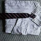 男の子・サイズ130ネクタイ付長袖シャツ