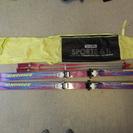 女性用 スキーセット ロシニョール 板、ストック、カバー