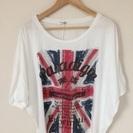 ユニオンジャックのTシャツ