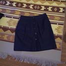 ネイビー スエード スカート