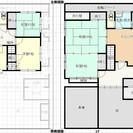 【敷金1か月/礼金無】6DKの木造2階建て住戸です。バス、トイレリ...