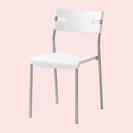 【美品】IKEA LAVER ホワイトチェア  2脚セット…